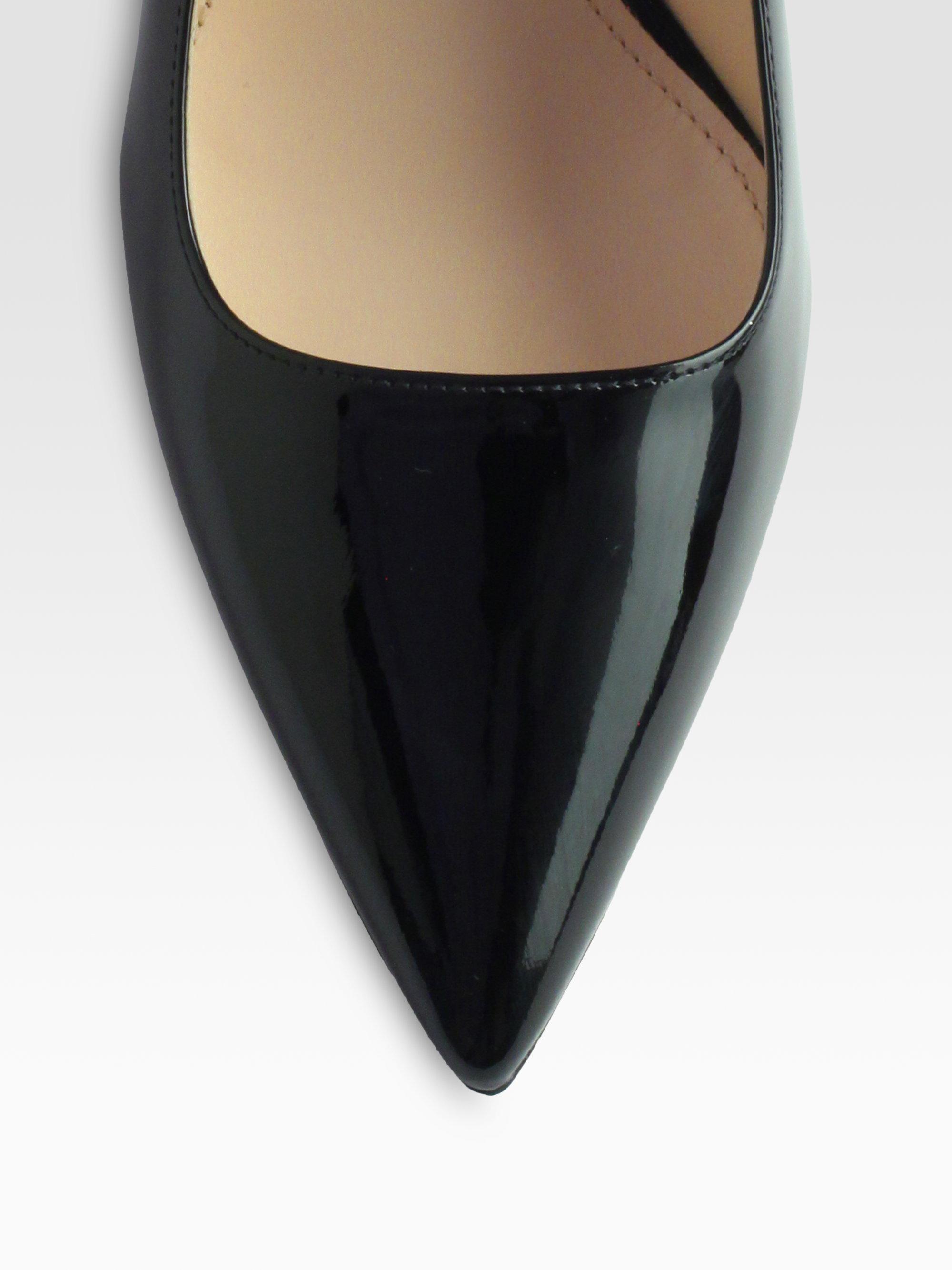 Prada Patent Leather Metal Heel Pumps in Black (nero-black) | Lyst