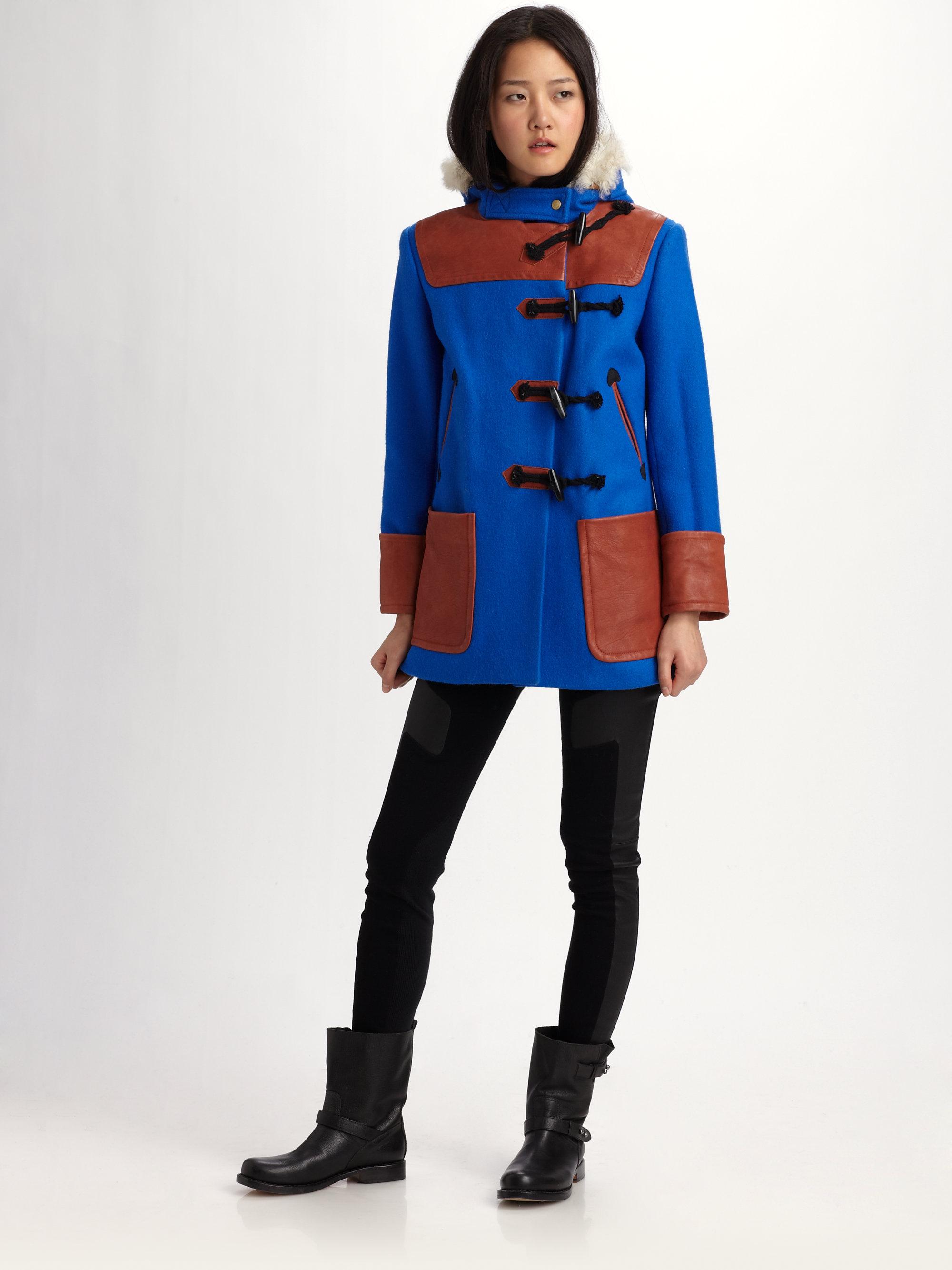 Rag & bone Duffle Coat in Blue | Lyst