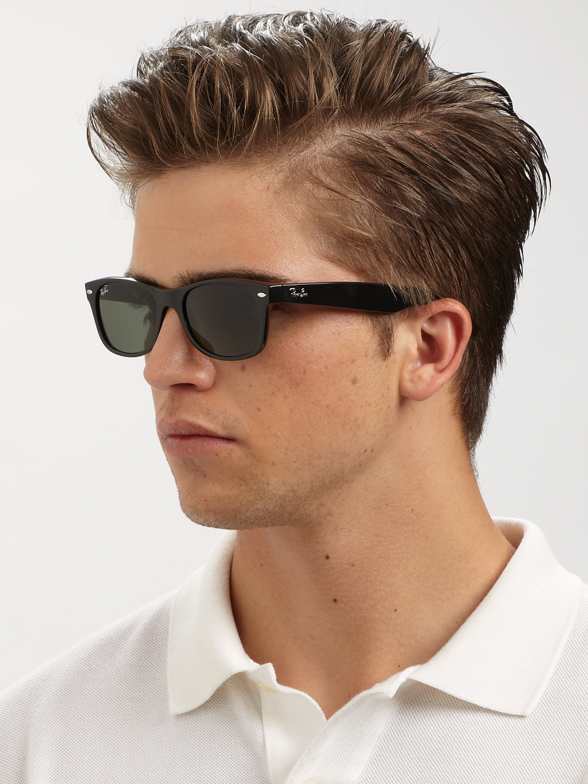 Ray Ban New Wayfarer Sunglasses In Black For Men Lyst