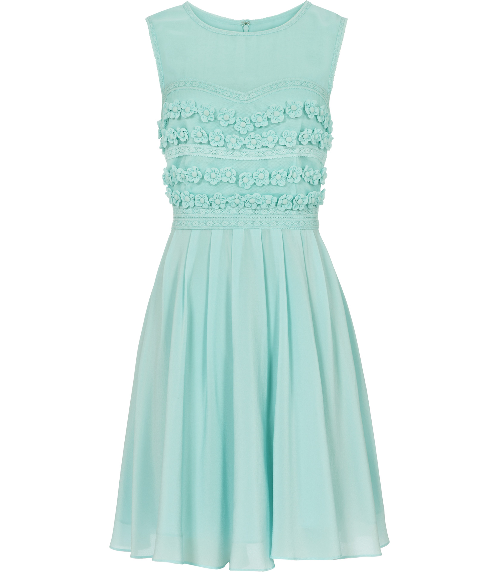 Lyst Reiss Lemine Floral Embroidered Dress In Green