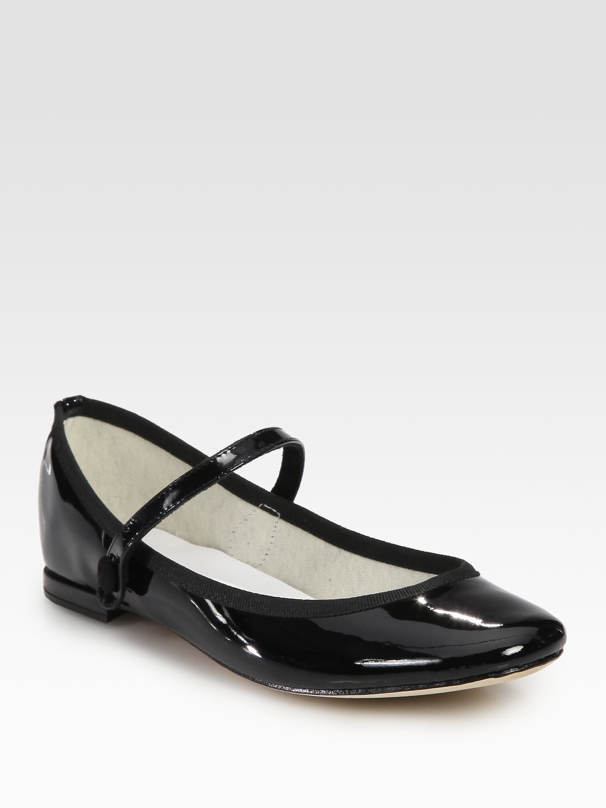 Lyst - Repetto Lio Patent Leather Mary Jane Ballet Flats in Black db9b83173
