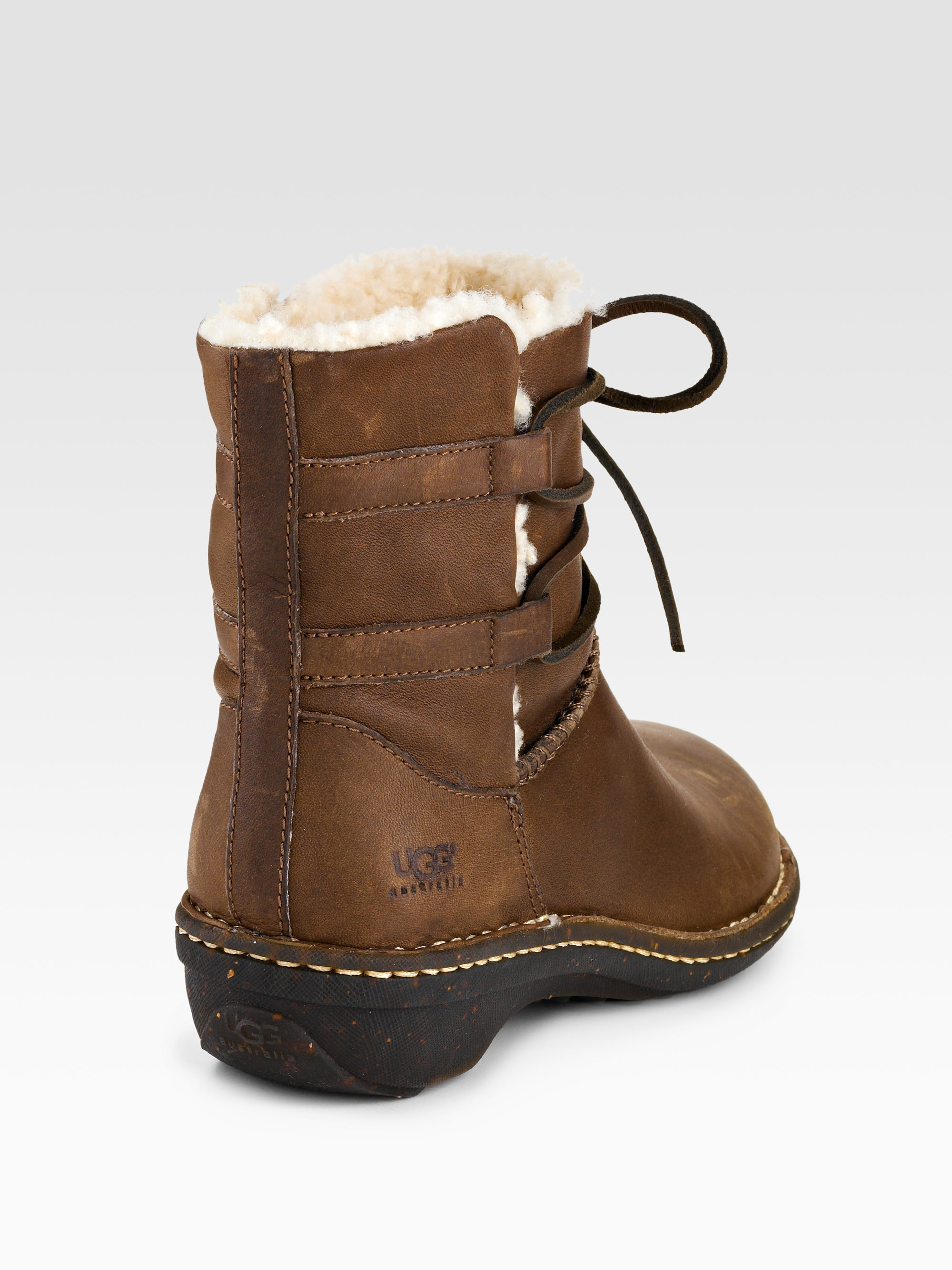 uggs leather and suede boots