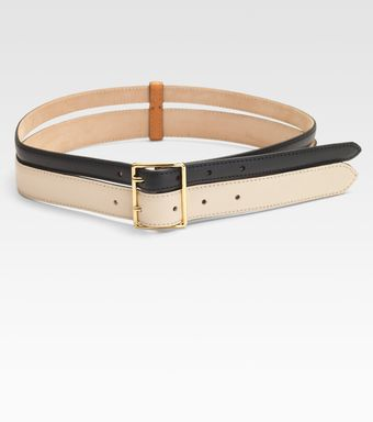 Vionnet Colorblocked Double Row Leather Belt - Lyst