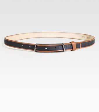 Akris Leather Trimmed Horsehair Belt - Lyst