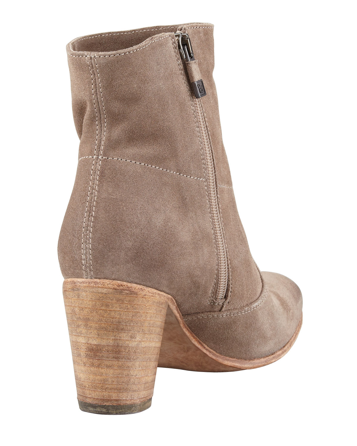 Lyst - Alberto fermani Diva Suede Ankle Boot Taupe in Brown