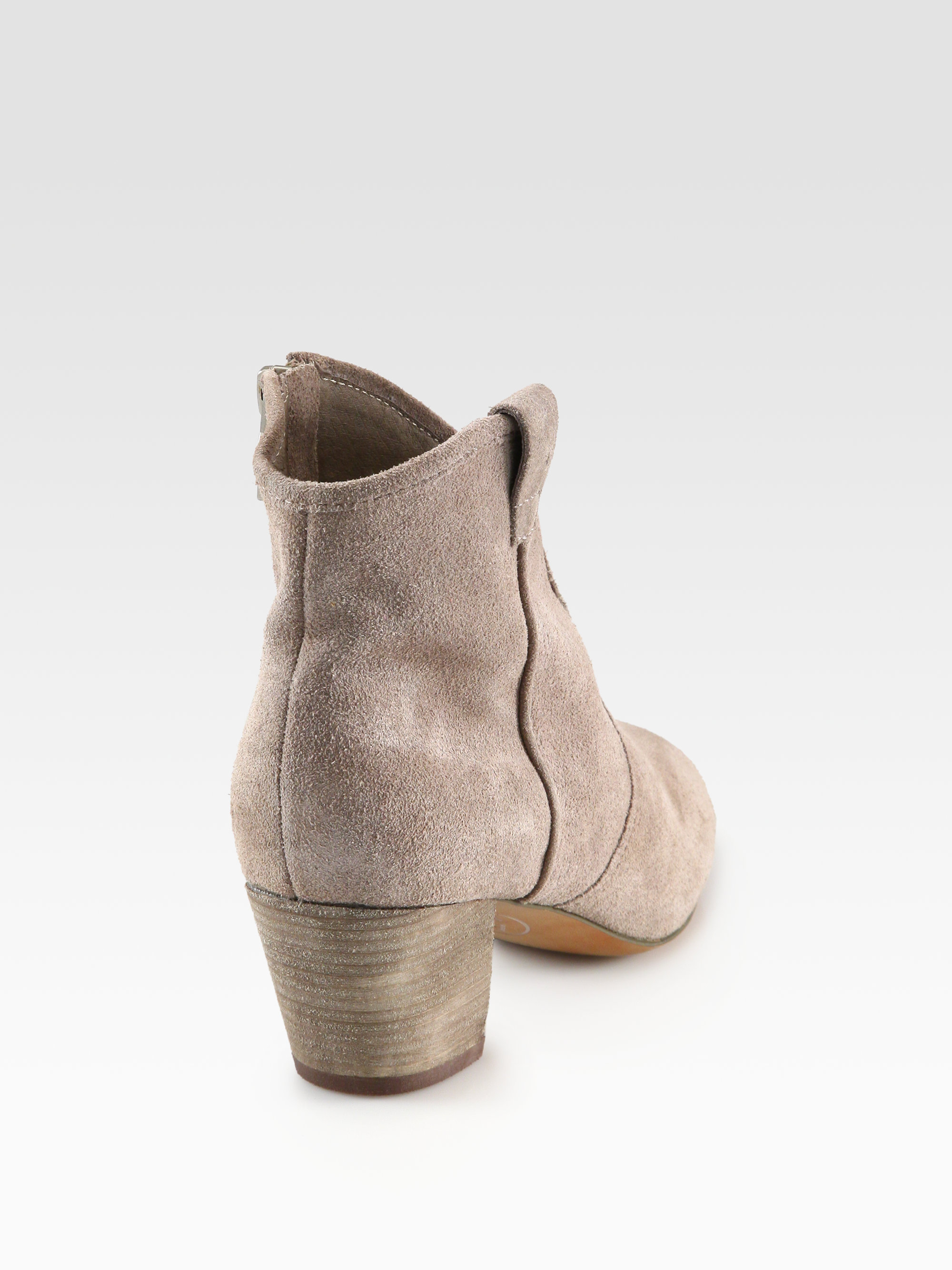 e6458e8840ba3 Ash Spiral Suede Western Ankle Boots in Gray - Lyst