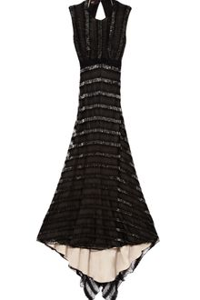 Bibhu Mohapatra Onyx Embroidered Eyelash Gown - Lyst