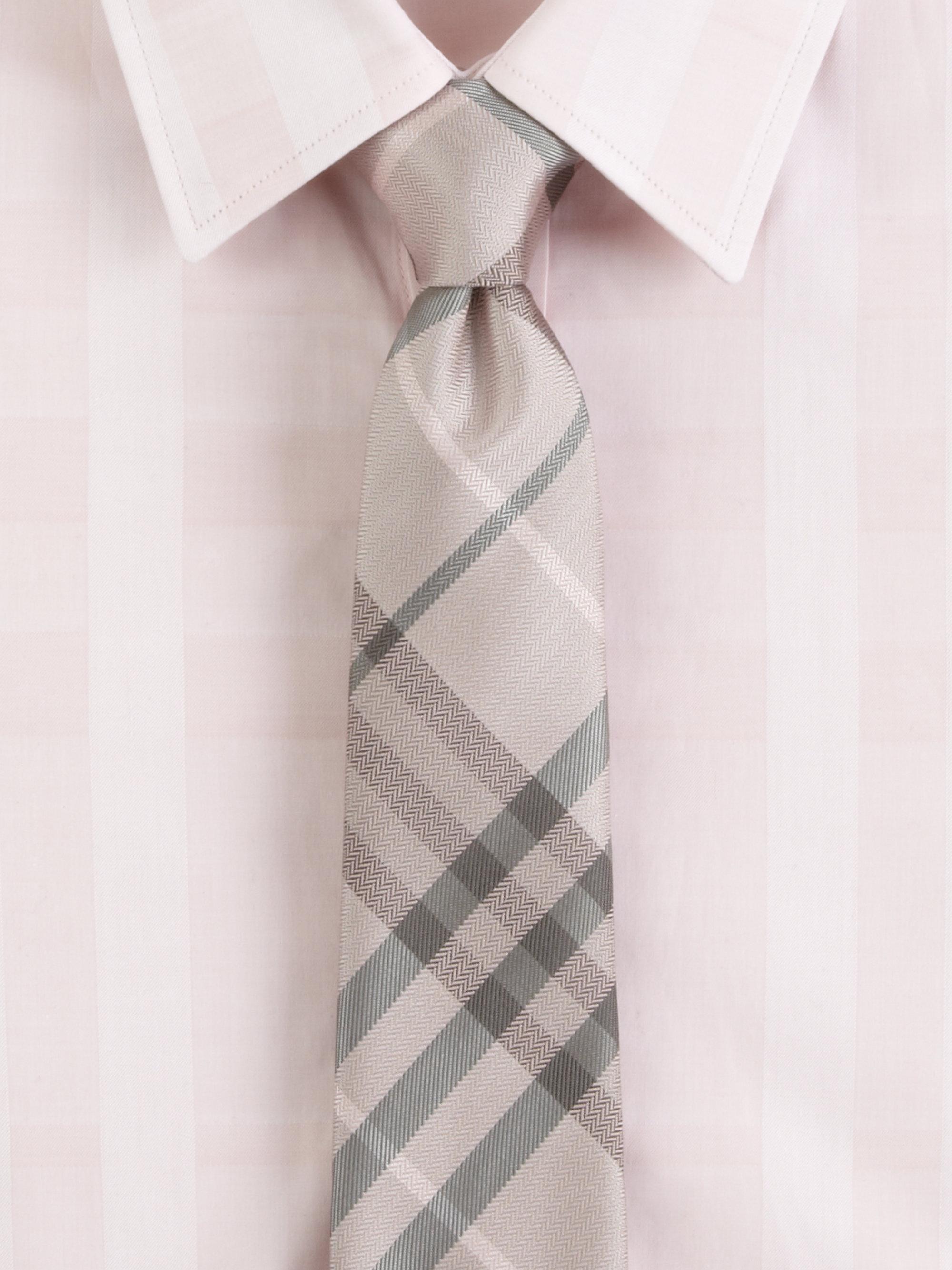 001781bb35ea 12345 f2843 e8577 australia lyst burberry check silk tie in natural for men  108ff ffdb5 hot burberry london manston ...