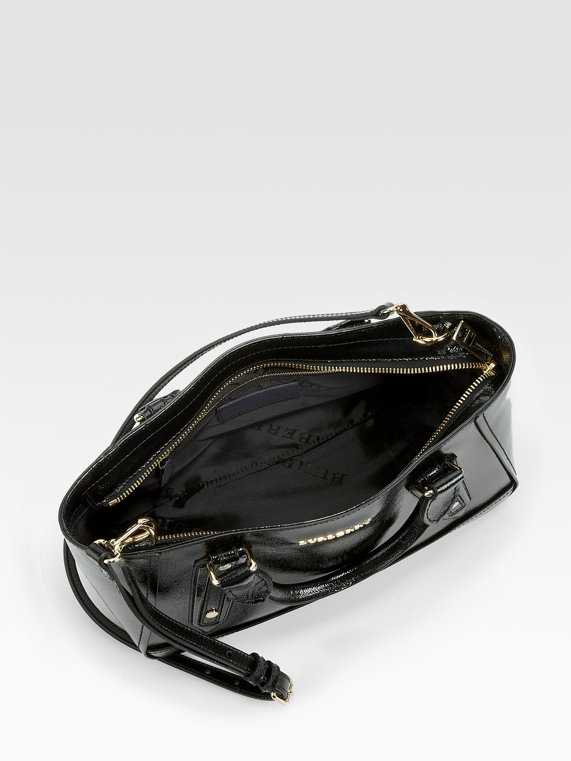 caecdb431947 Burberry Black Patent Leather Purse - New image Of Purse