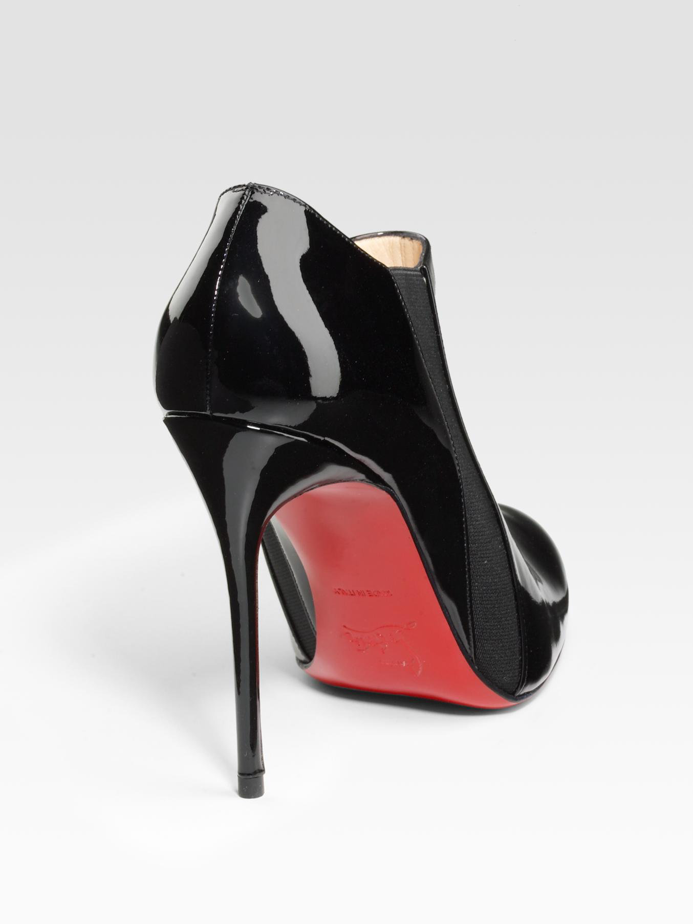 louboutin replica shoes - Peony Design ? christian louboutin black patent ankle boots