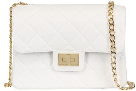 White Quilted Shoulder Bag 109