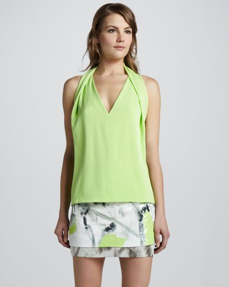 Diane Von Furstenberg Elley Printed Sequined Skirt in Green (new melon) - Lyst