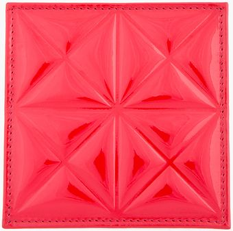 Gareth Pugh Red Patent Leather Embossed Credit Card Holder - Lyst