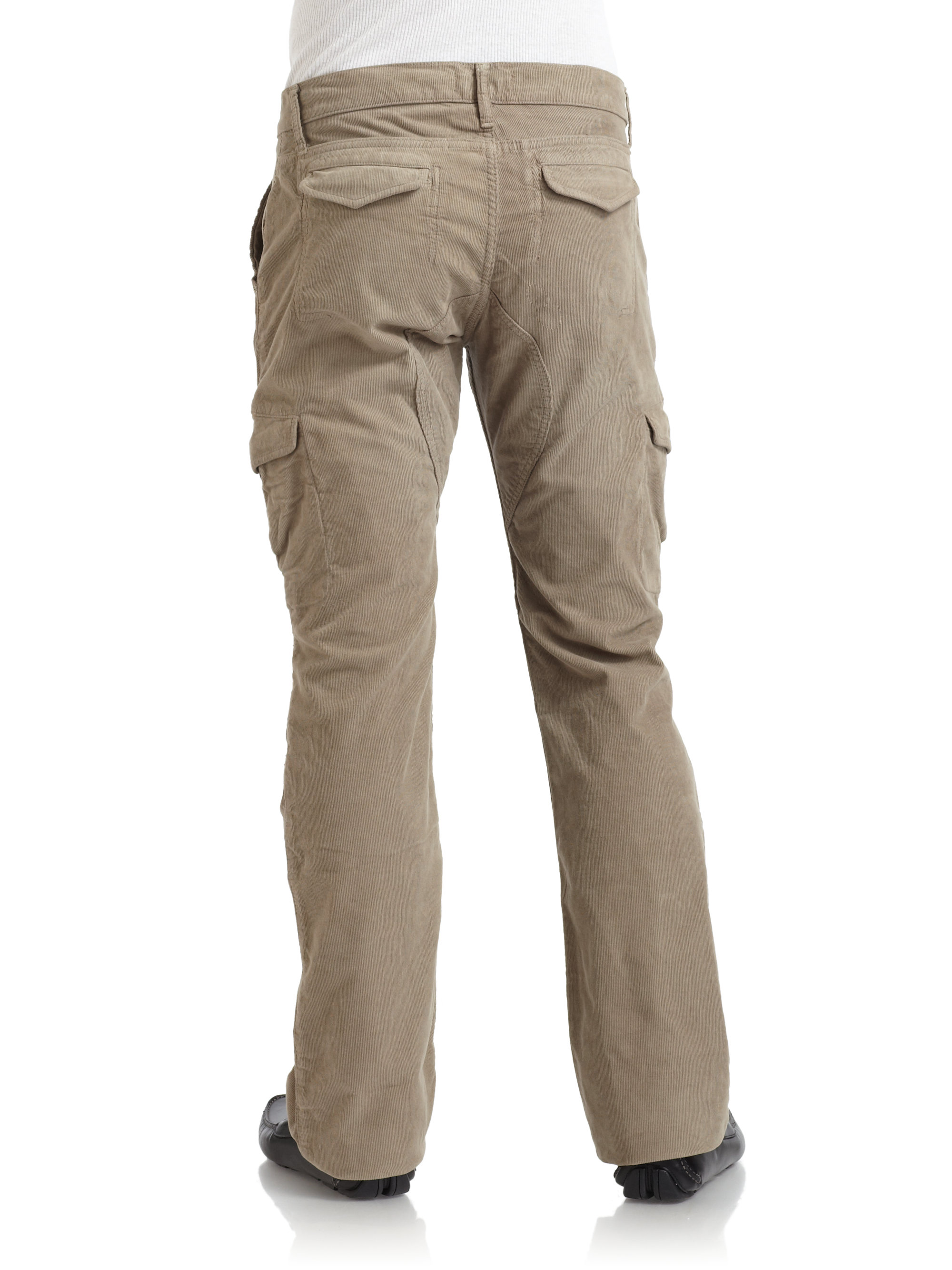 Saks fifth avenue Corduroy Cargo Pants in Natural for Men | Lyst