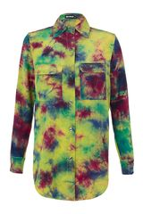 House Of Holland Tie Dye Silk Shirt - Lyst