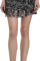 Isabel Marant Abstract Print Ruched Mini Skirt - Lyst