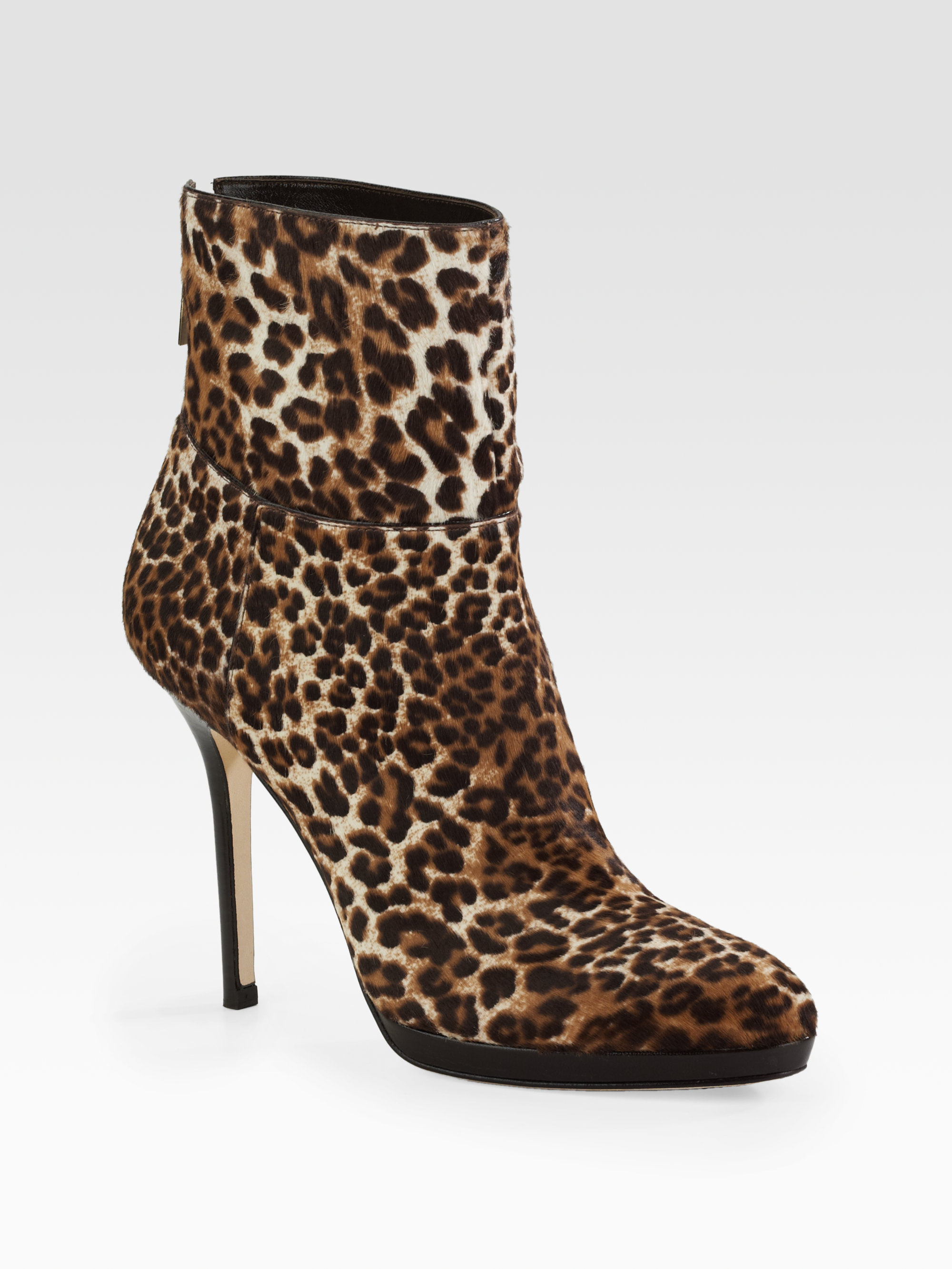 Jimmy Choo Leather Animal Print Ankle Boots buy cheap 2014 unisex sale amazon 8SWQrbxSs