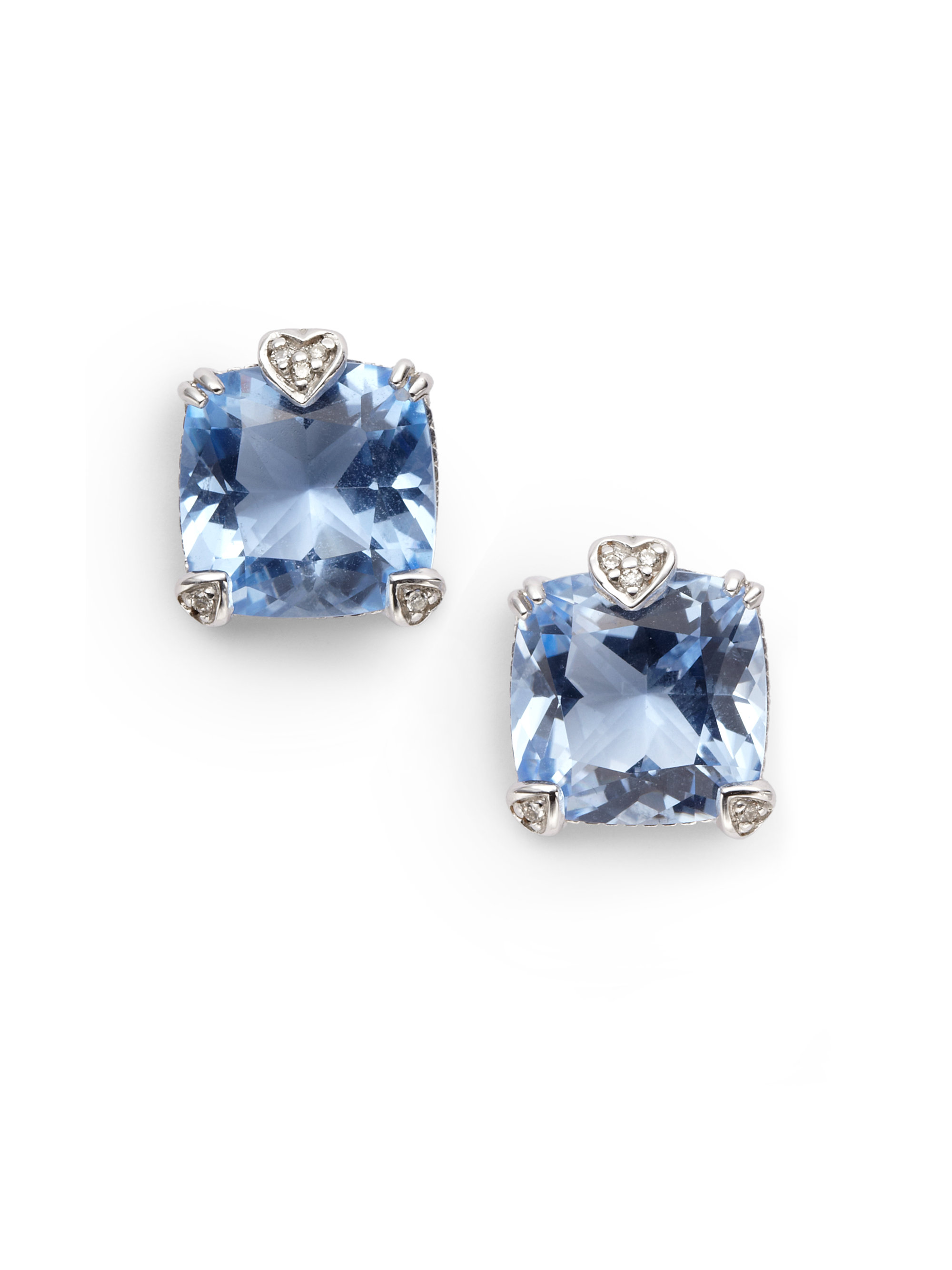 model buy effervescence sterling blue of london diamond links earrings silver no stud