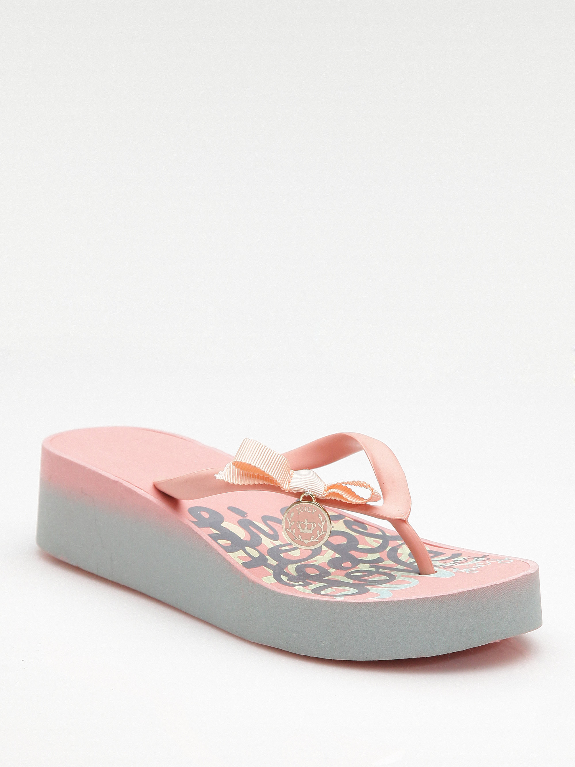 Lyst Juicy Couture Rubber Platform Flip Flops In Brown