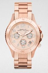 Marc By Marc Jacobs Rose Stainless Steel Chronograph Watch - Lyst