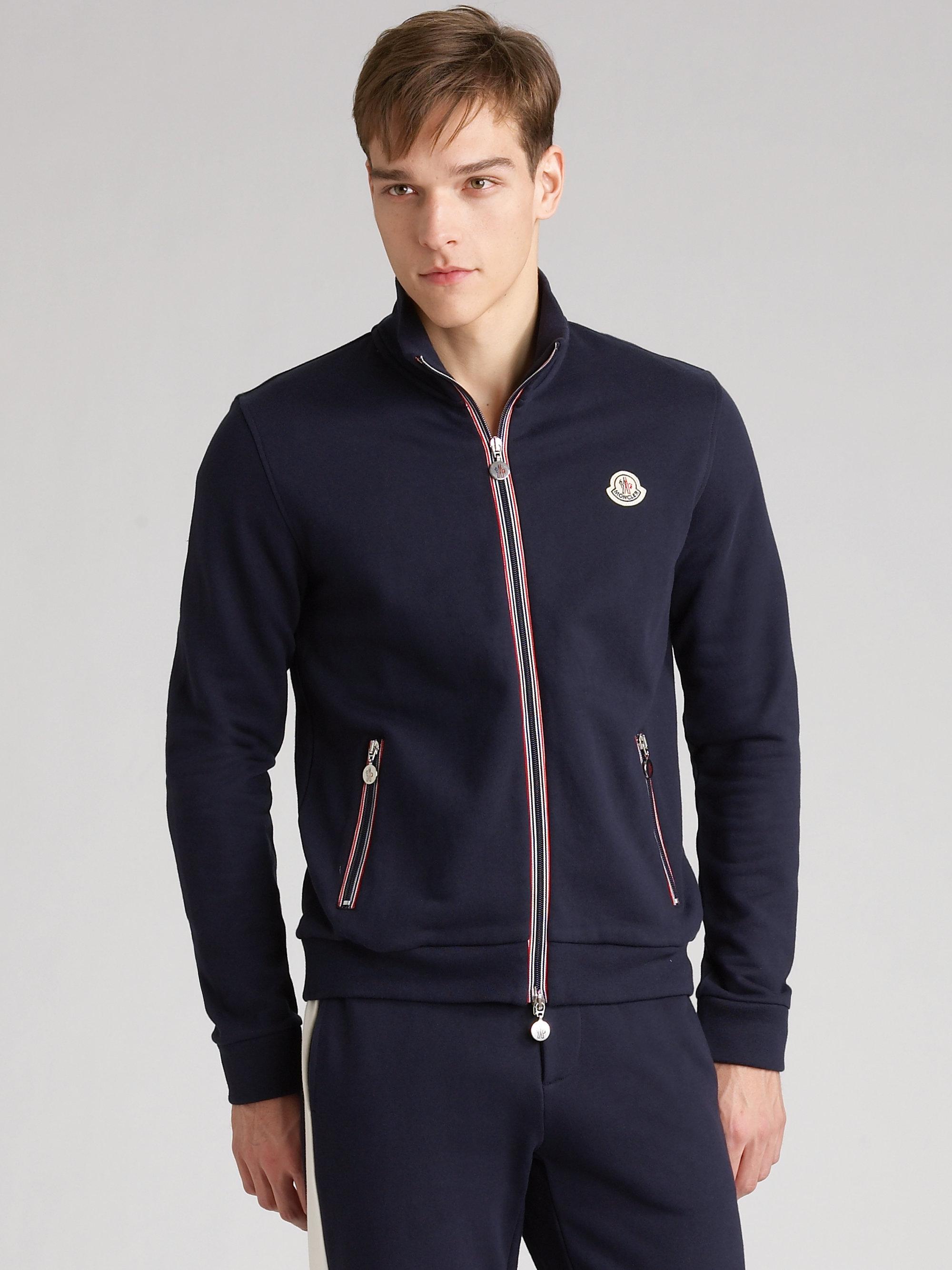 9b12999de Lyst - Moncler Track Jacket in Blue for Men