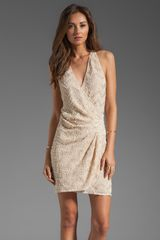Parker Duet Sequin Thread Pyramid Dress in Nude - Lyst