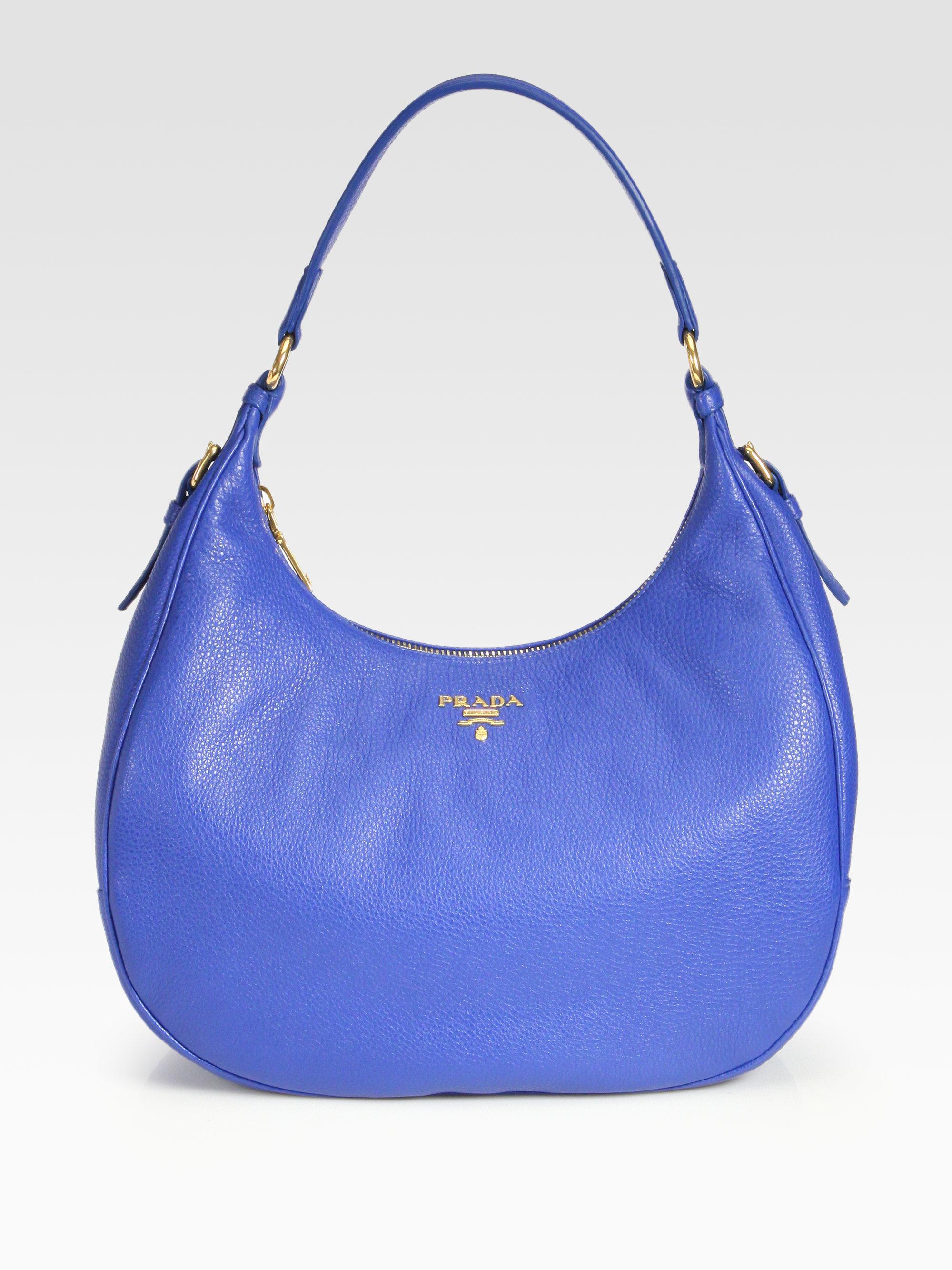 prada handbags for less - Prada Daino Hobo in Blue (azzurro-blue) | Lyst