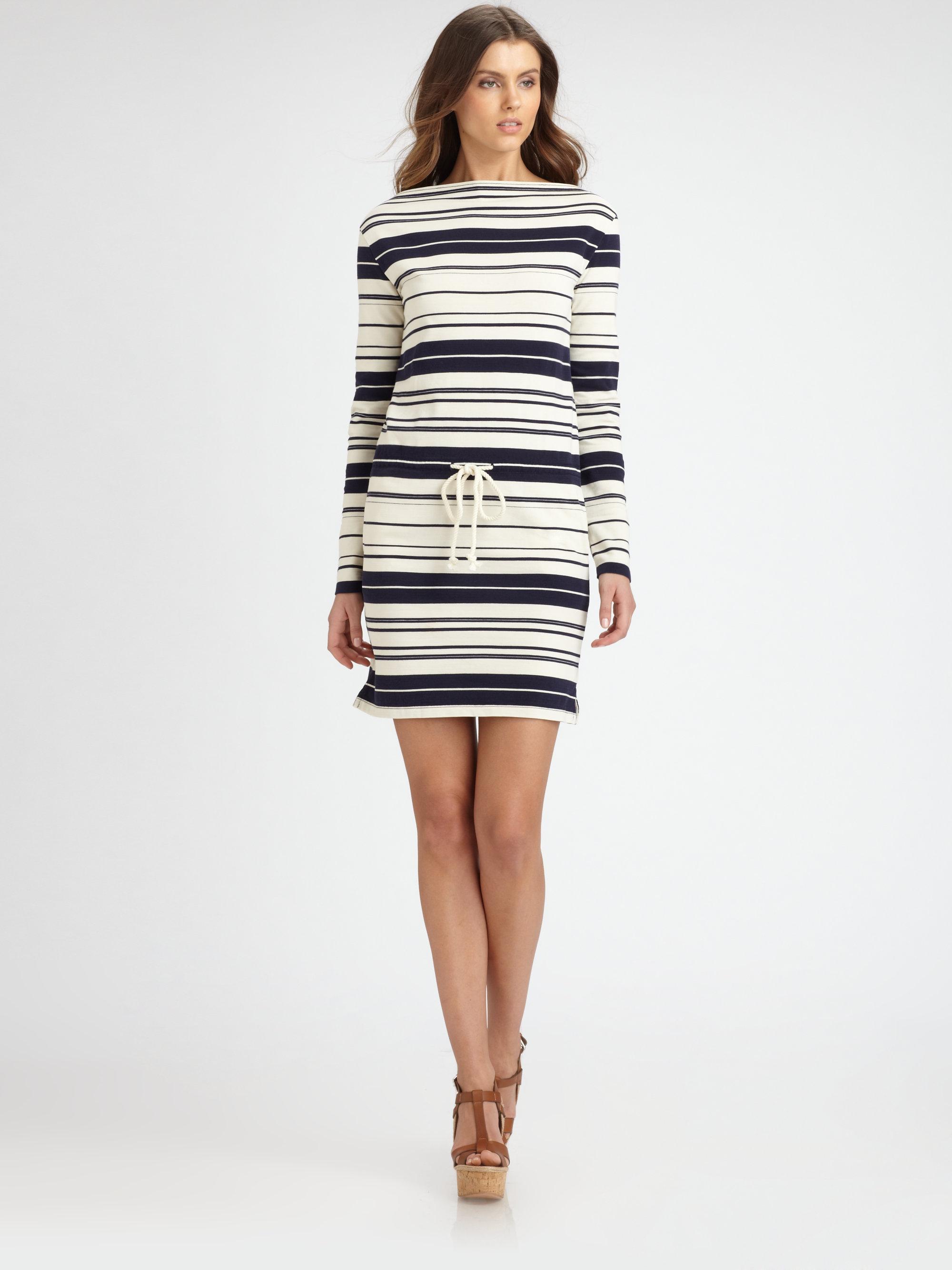 Lyst Ralph Lauren Blue Label Cotton Marcella Dress In Blue