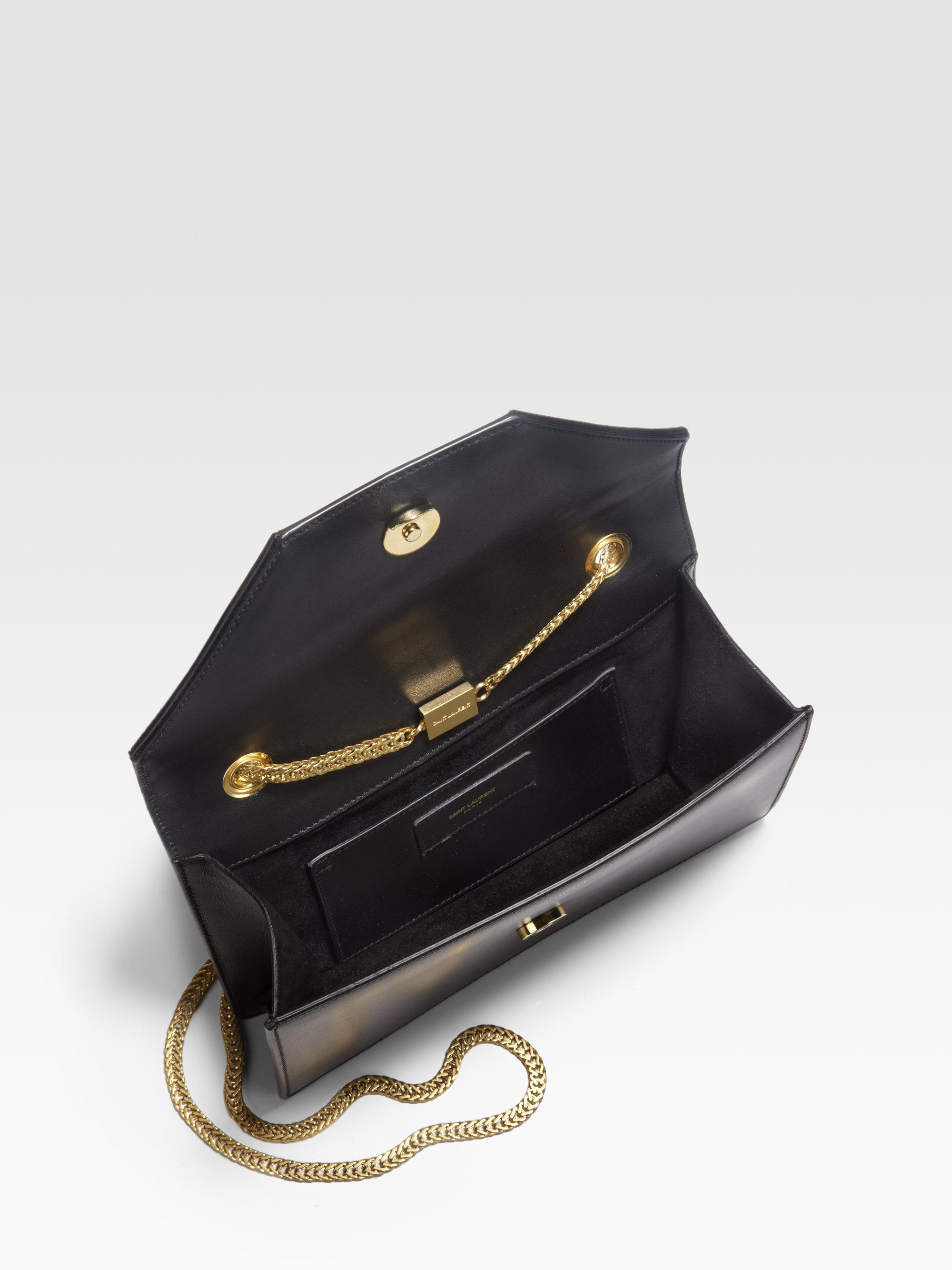 Lyst - Saint Laurent Betty 1 Mini Chain Shoulder Bag in Black 8531730cb61cd