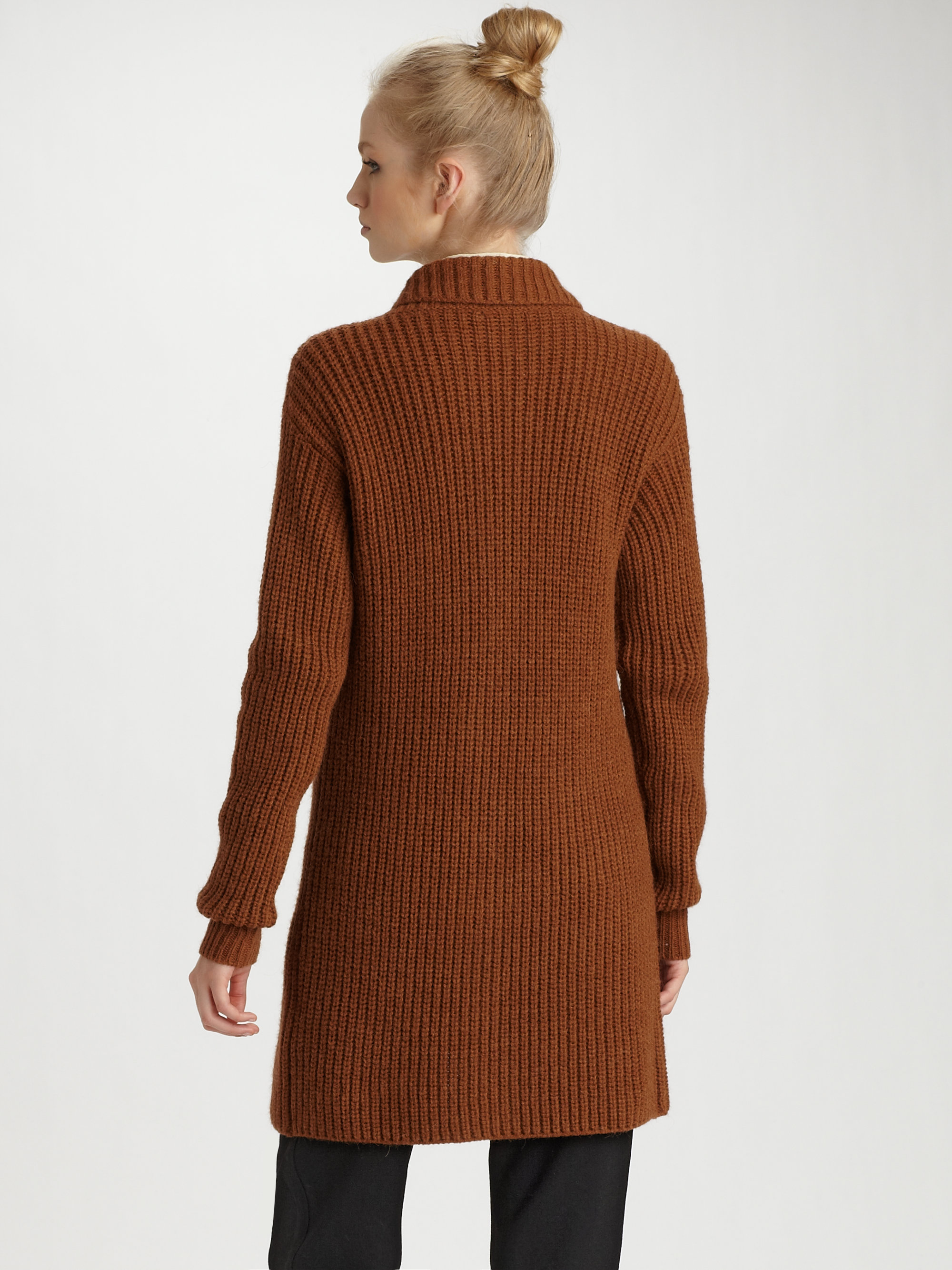 handbags chloe online - see-by-chloe-rust-alpaca-long-cardigan-product-2-7675627-542785070.jpeg