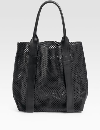 Stephane Verdino Cabas Perforated Leather Tote - Lyst