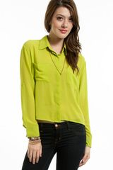 Tobi Right Behind You Pocket Blouse - Lyst