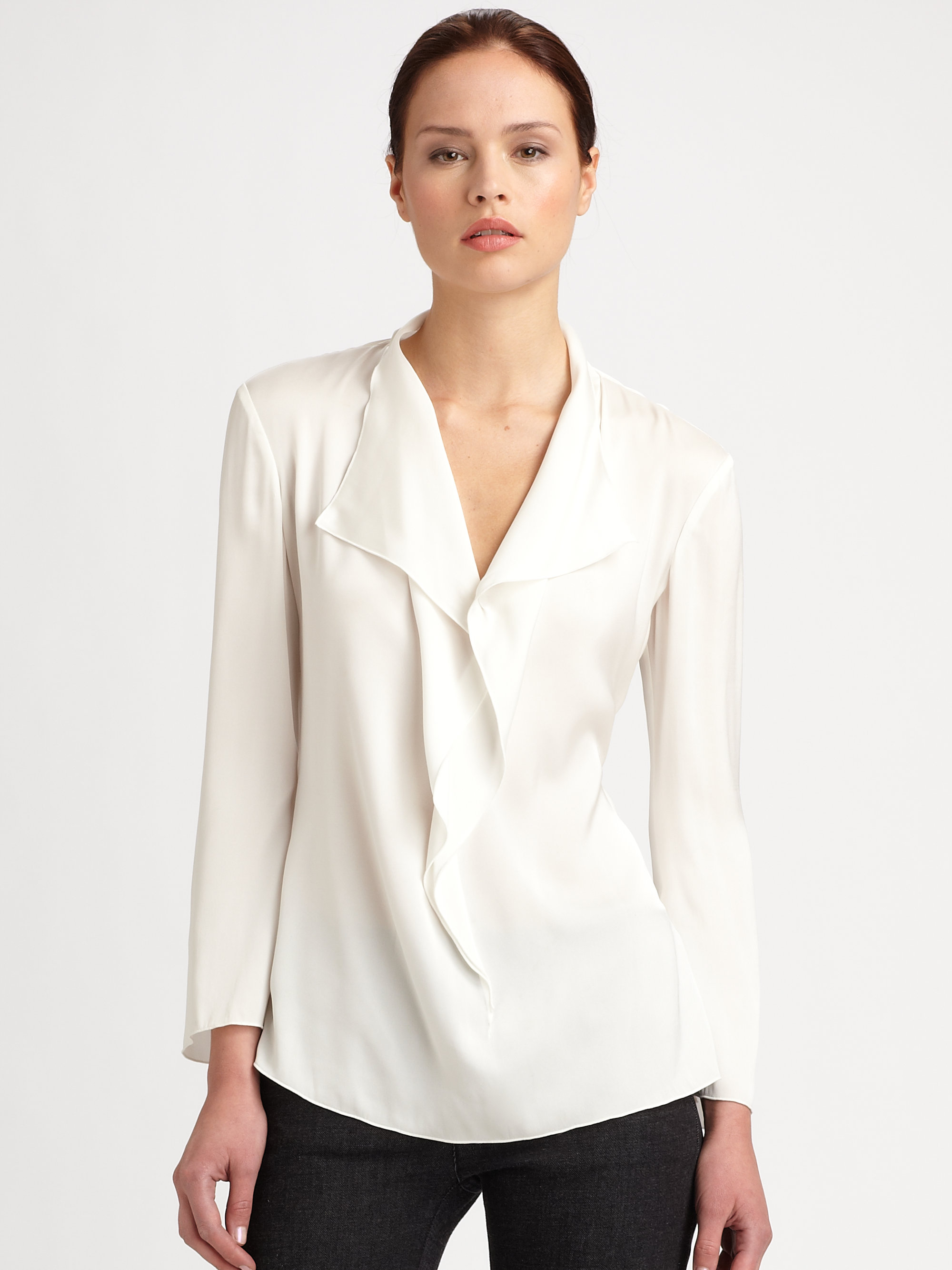 salestopp1se.gq offers silk ruffle blouse products. About 49% of these are ladies' blouses & tops, 25% are plus size shirts & blouses. A wide variety of silk ruffle blouse options are available to you, such as anti-pilling, anti-shrink, and breathable.