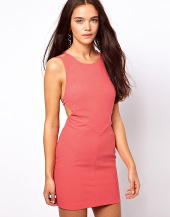Asos Strappy Back Mini Dress - Lyst