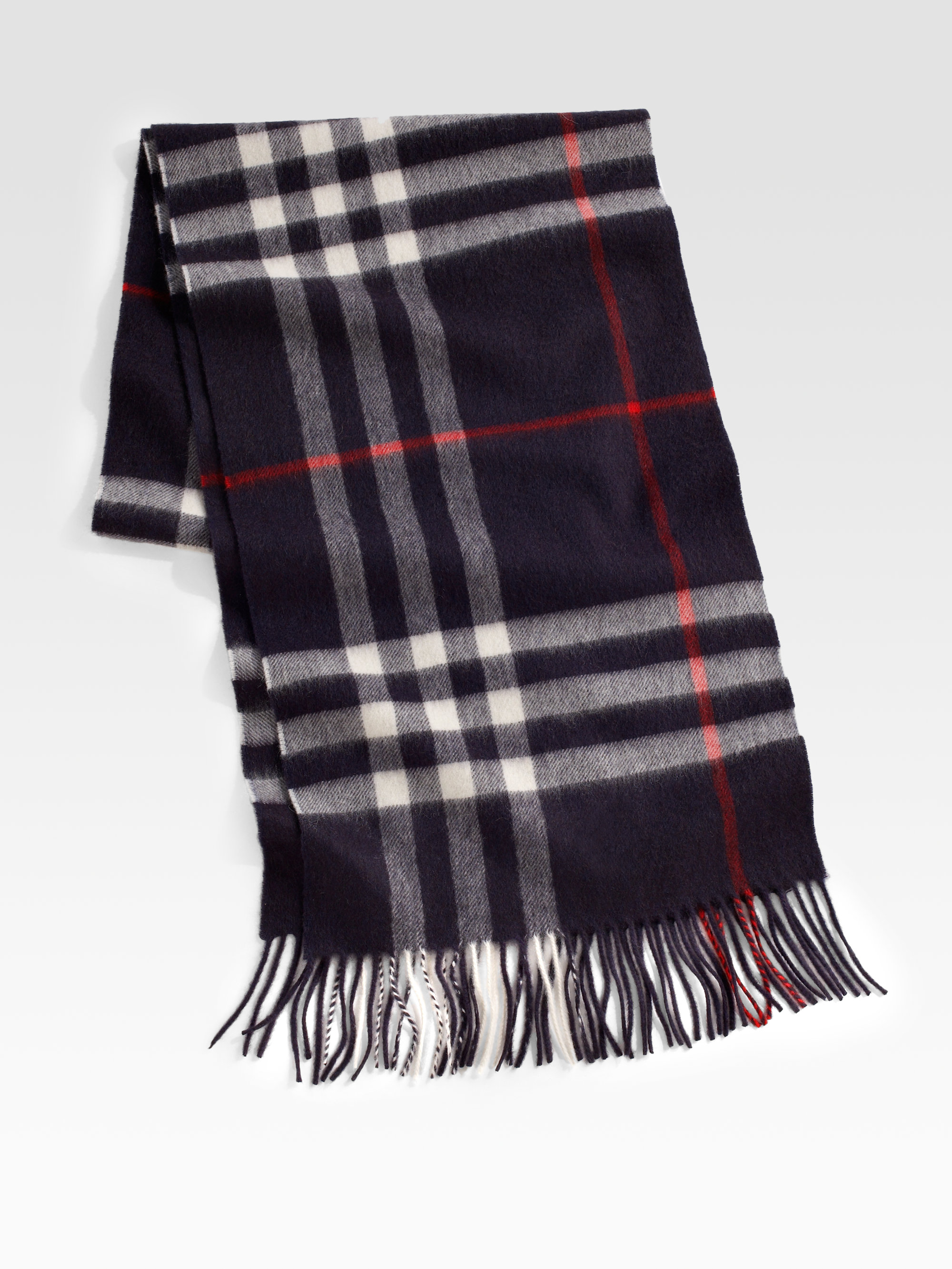6047ae24036 ... top quality lyst burberry cashmere check scarf in black for men 7459e  817ab