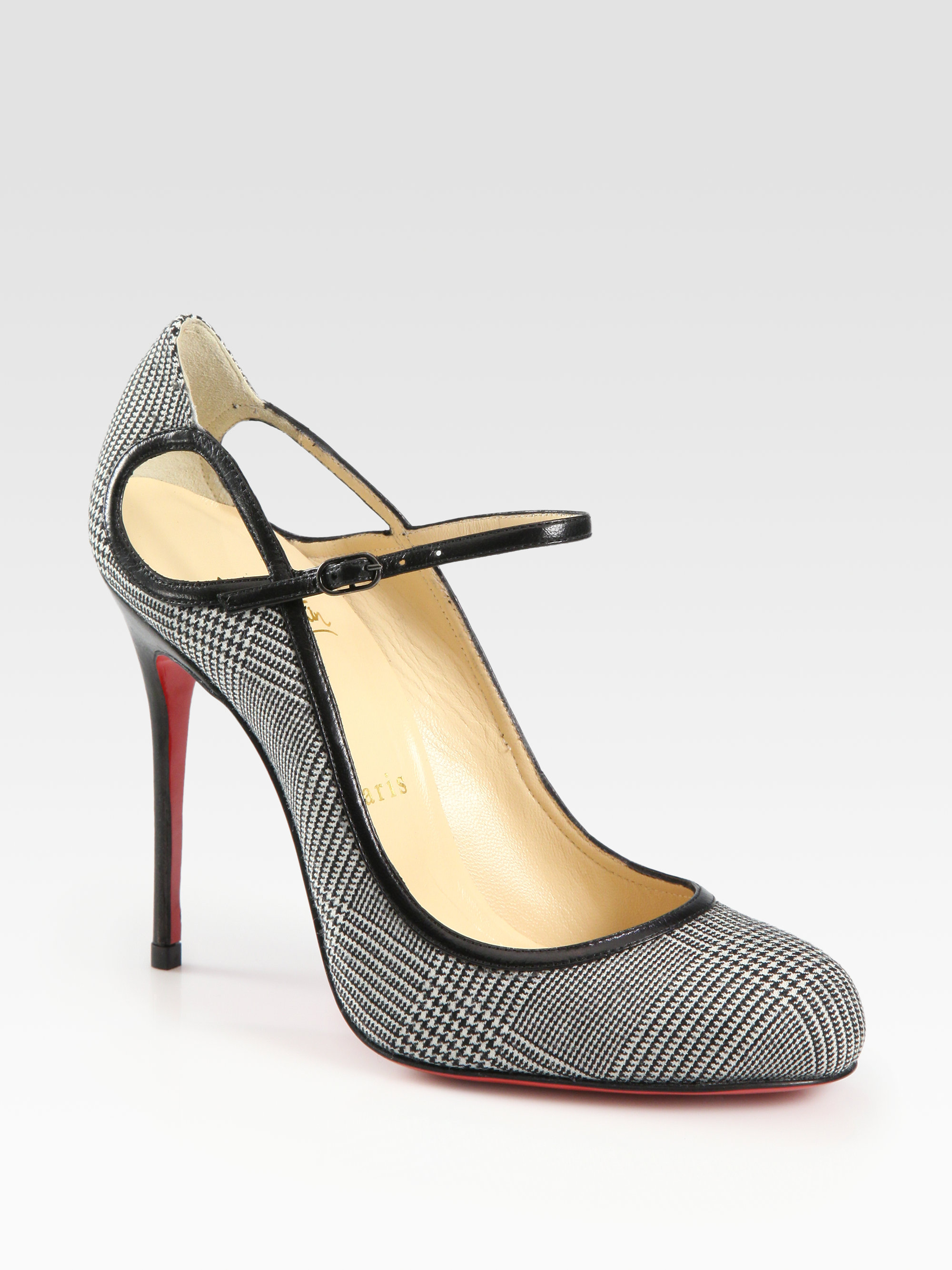 Artesur ? christian louboutin Daffodile mary-jane pumps Black and ...