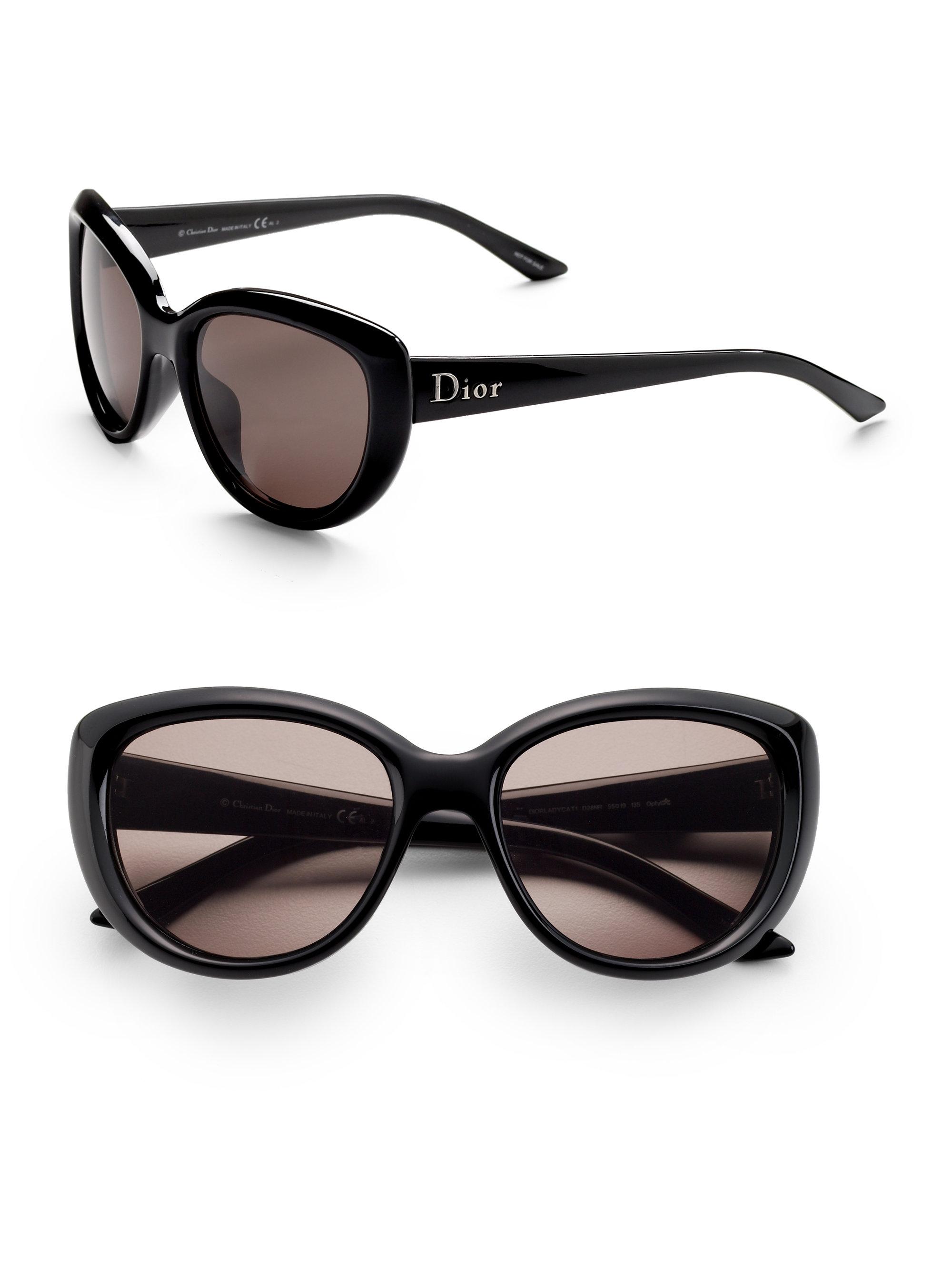 013633744e Lyst - Dior Lady Cat Sunglasses in Black