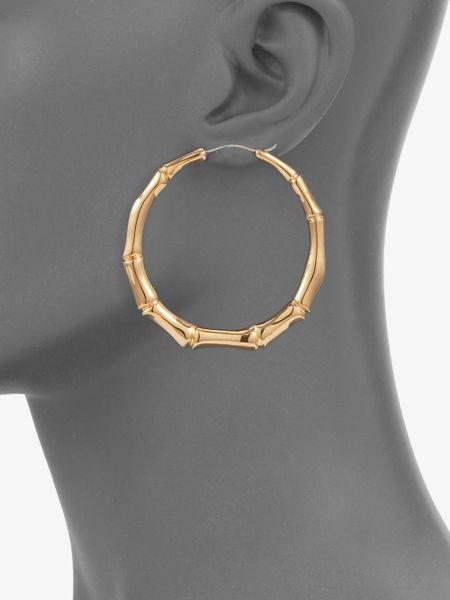 Gucci 18k Gold Earrings Gold Gucci Bamboo 18k