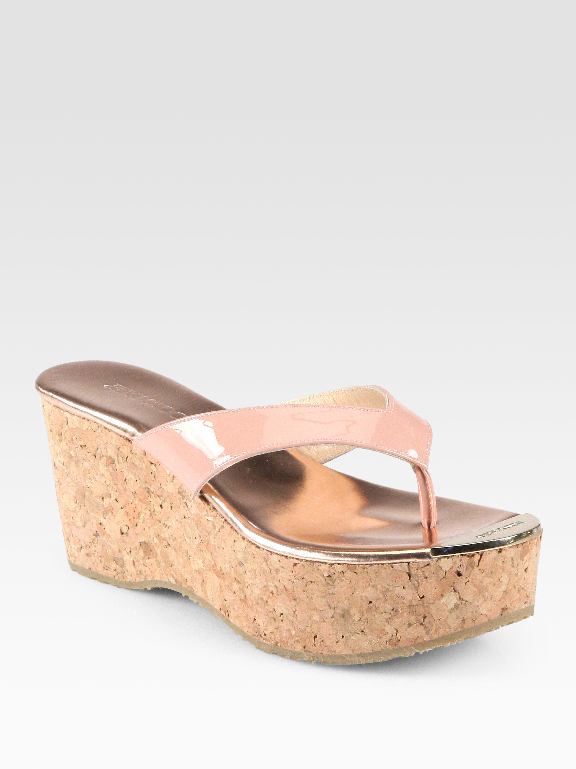 good selling for sale Jimmy Choo Pathos Thong Wedges for sale top quality buy cheap 2015 new arrival free shipping official 9G5IoO