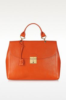 Marc Jacobs The Mandarin Calf Leather Satchel - Lyst