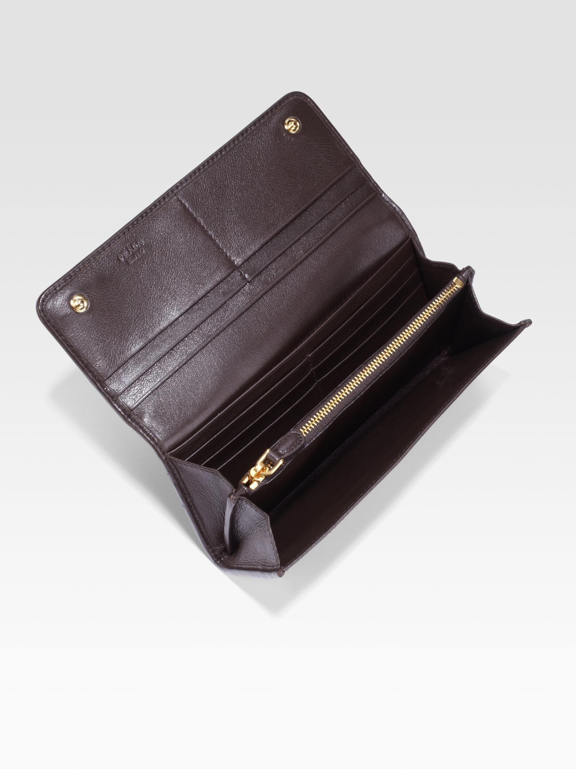 08300e2191cb ... discount code for lyst prada cavallino haircalf continental wallet  d04ce 54d74