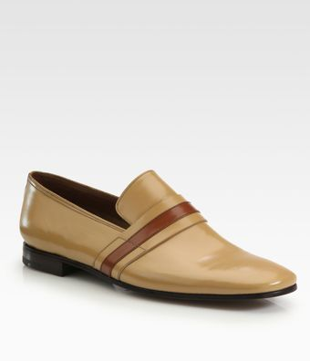 Prada Bicolored Banded Loafers - Lyst