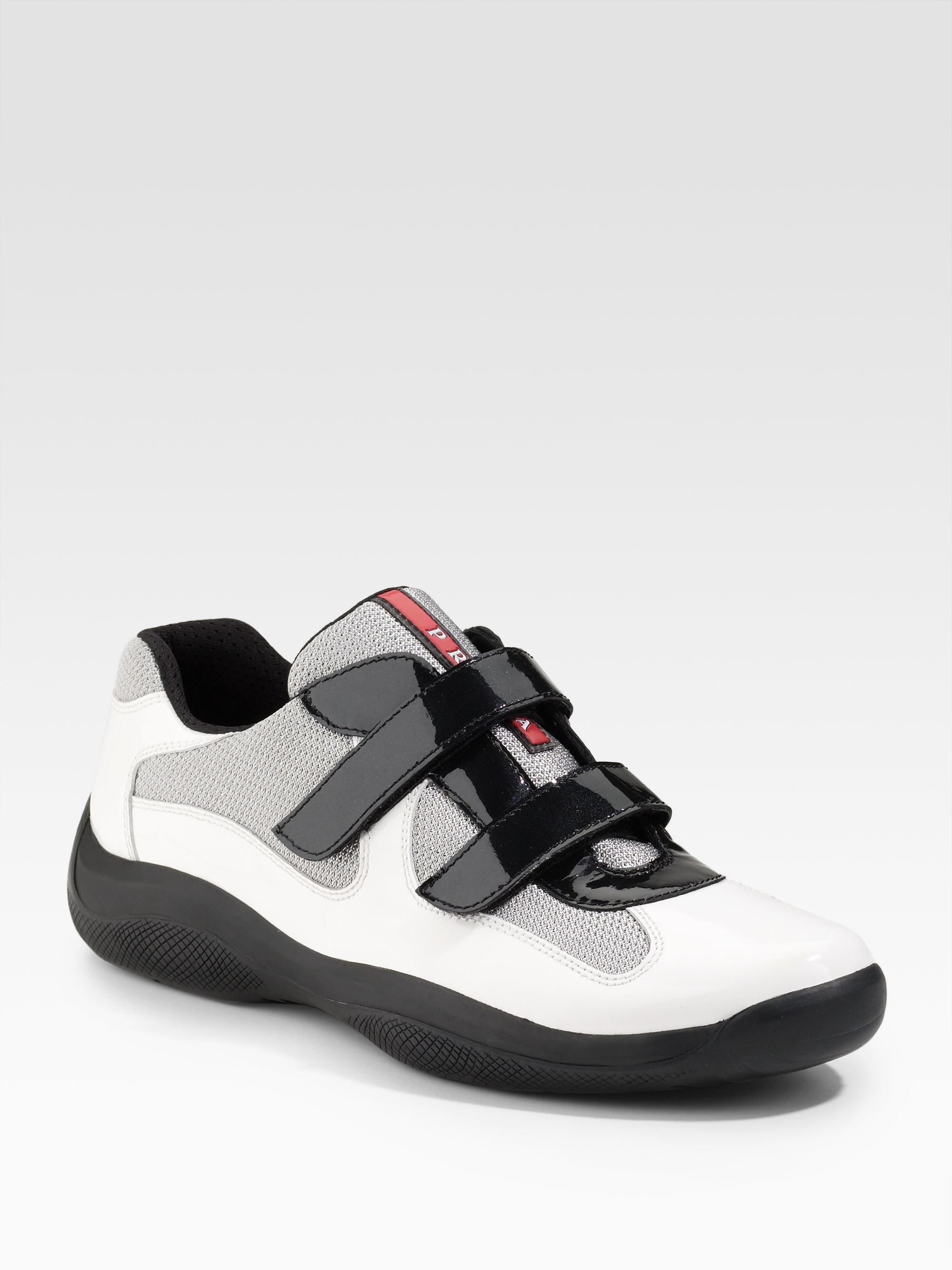 c1d1d7e1c75c Lyst - Prada Double-strap Sneakers in White for Men