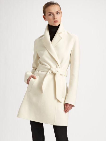 Ralph Lauren Black Label Heatherly Doubleface Wrap Coat In