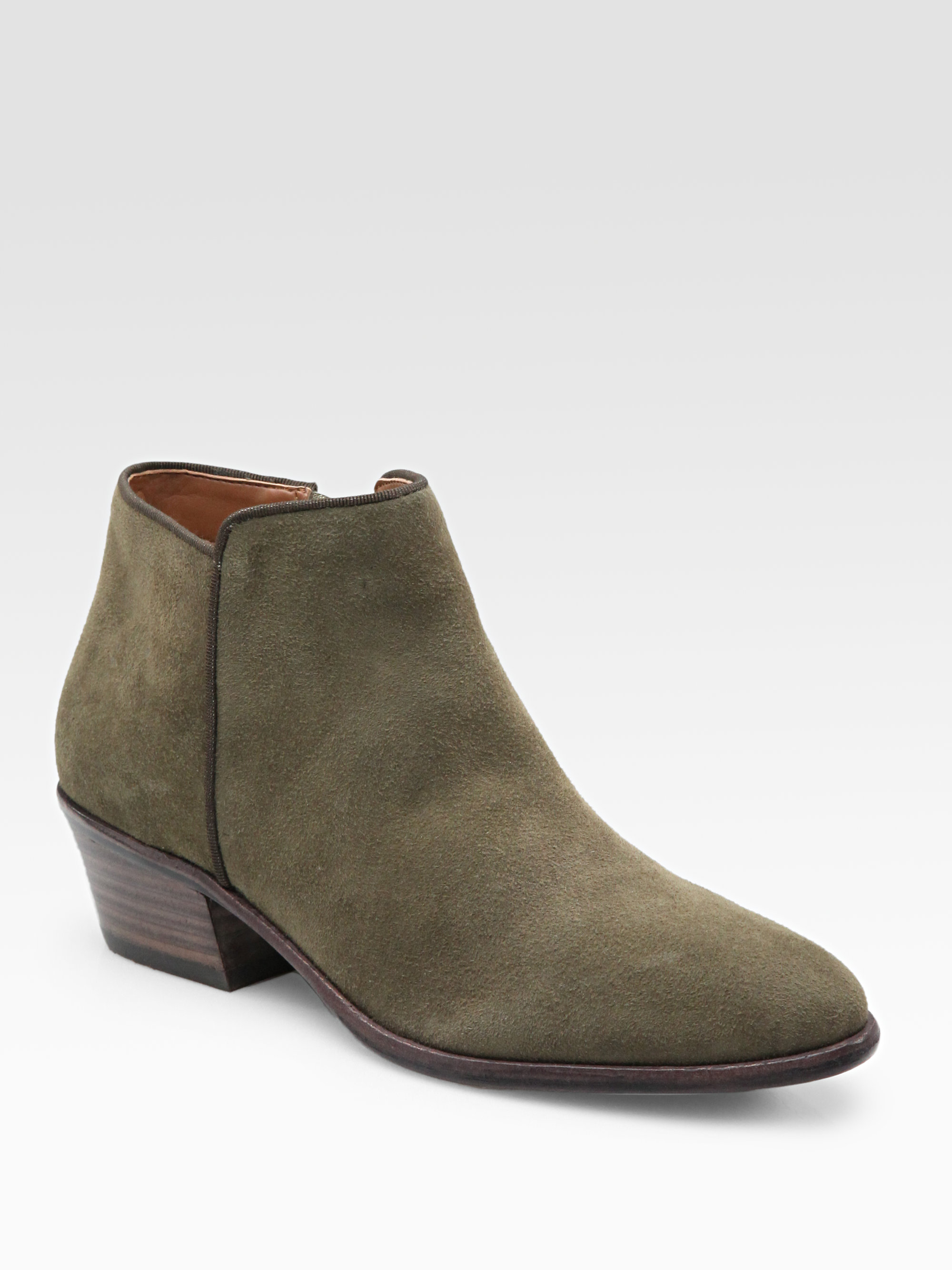 sam edelman petty lowcut suede ankle boots in lyst