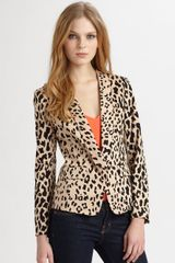 Tibi Cheetah Stretch Blazer - Lyst