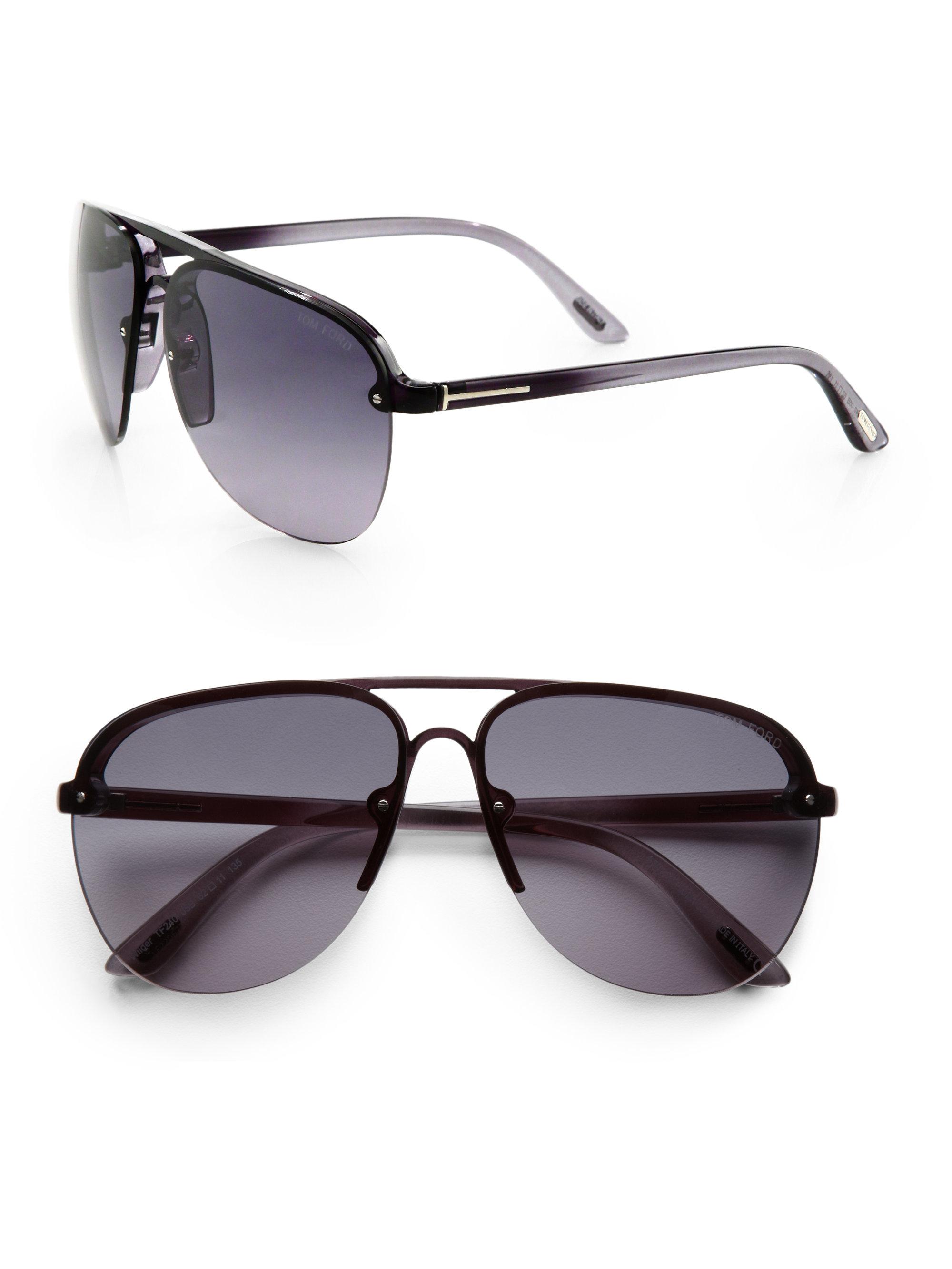 248b81201 Tom Ford Wilder Aviator Sunglasses in Black for Men - Lyst