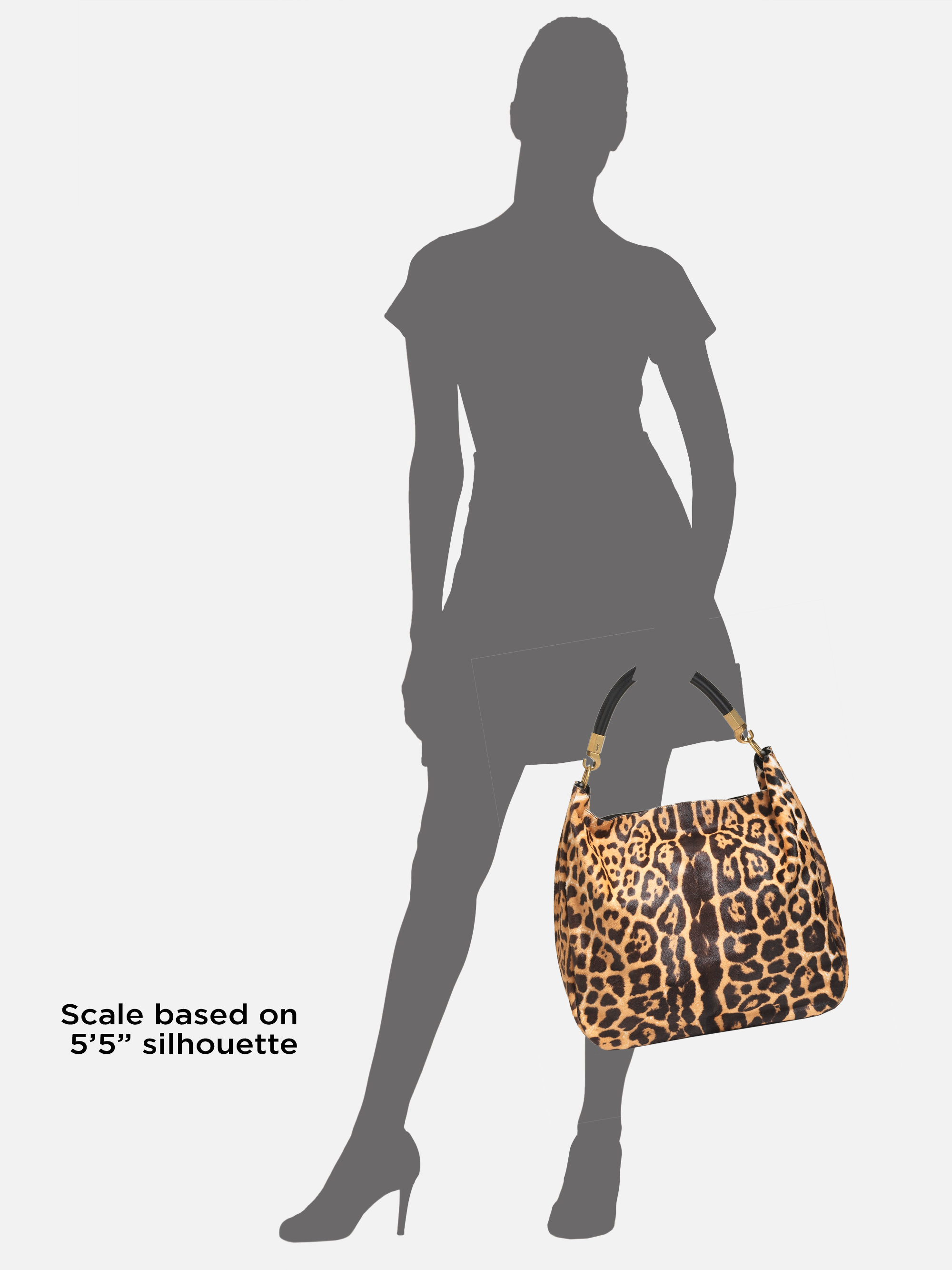 Saint laurent Roady Leopardprint Pony Hair Hobo in Animal (natural ...