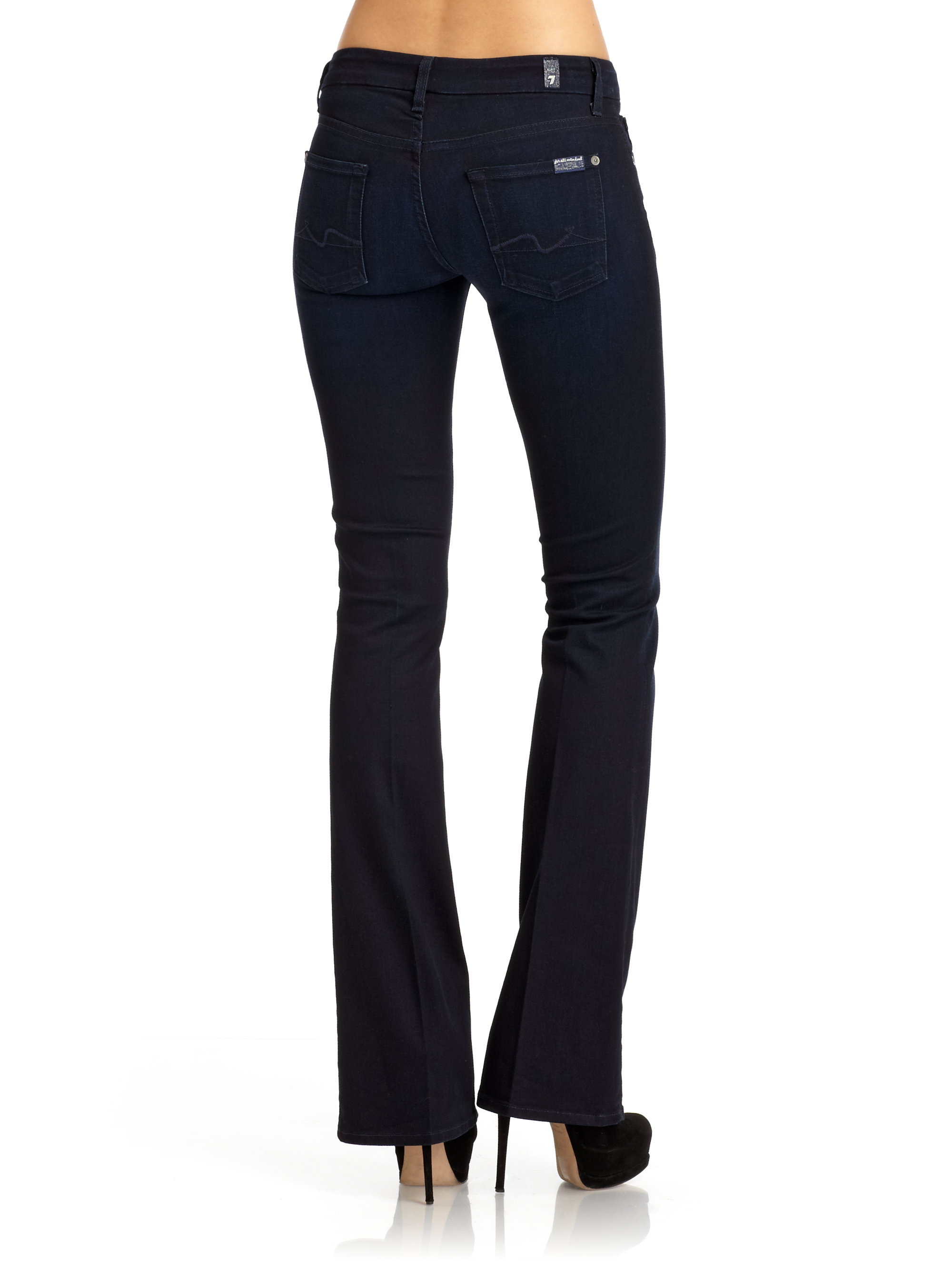 7 for all mankind Kimmie Bootcut Jeans in Blue | Lyst