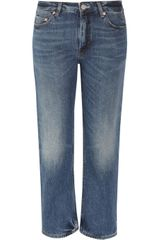 Acne Pop Cropped Midrise Straightleg Jeans - Lyst